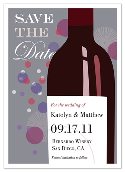 save the date cards - A Vineyard Celebration by Jenny Kuhn