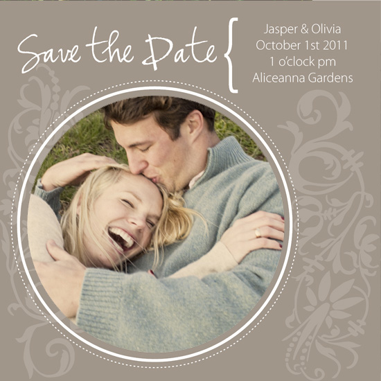save the date cards - Coffee in Aspen by Sage & Grace :: Design Studio
