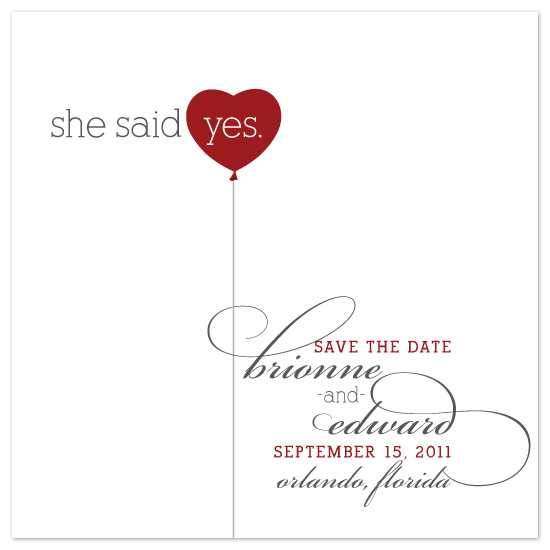 save the date cards - Balloon Bliss by DELETEME