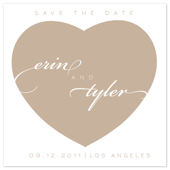 save the date cards - Beach Chic Heart by DELETEME
