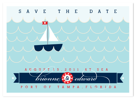 save the date cards - Love Sails On by DELETEME