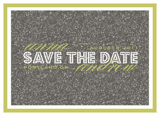 save the date cards - Glitterama by Epitome by Renner Design