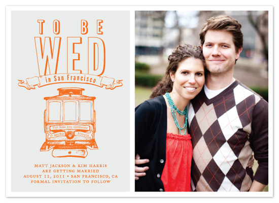 save the date cards - to be wed in san francisco by i heart design studio