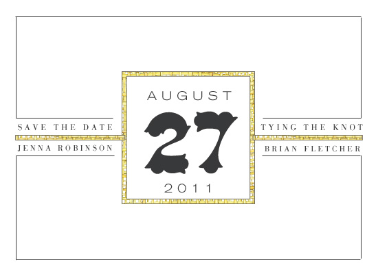 save the date cards - Hotel Lines by Epitome by Renner Design