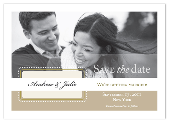 save the date cards - Embellished Nameplate by Jenny Kuhn