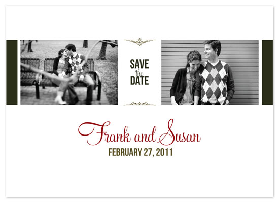 save the date cards - Madison by David Sutoyo