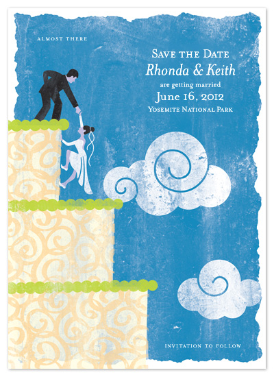 save the date cards - the Climb by Carrie English