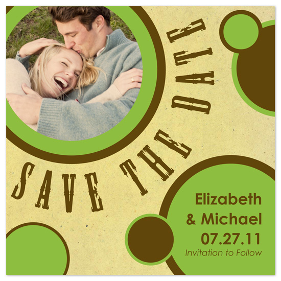 save the date cards - Vintage Circles by LindyLou Design
