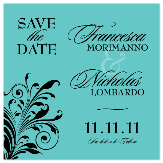 save the date cards - Save the Date with a Bit of Class by GarriguesGraphics