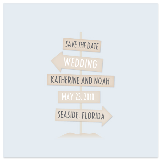 save the date cards - Seaside by Lauren Chism