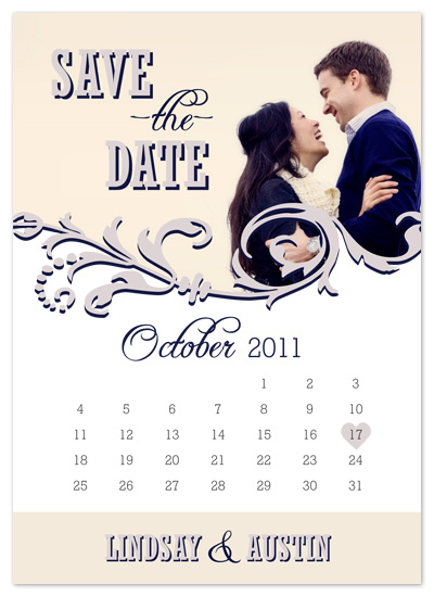 save the date cards - Calendar Date by Ryen White