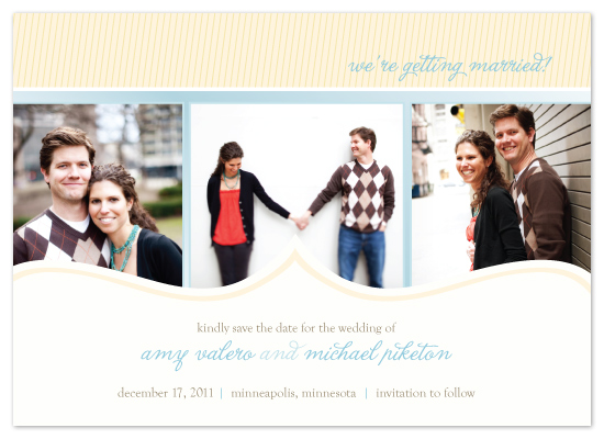 save the date cards - In The Morning Light by Print Julep