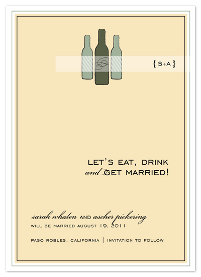 save the date cards - Mine-o, Wine-o by Print Julep
