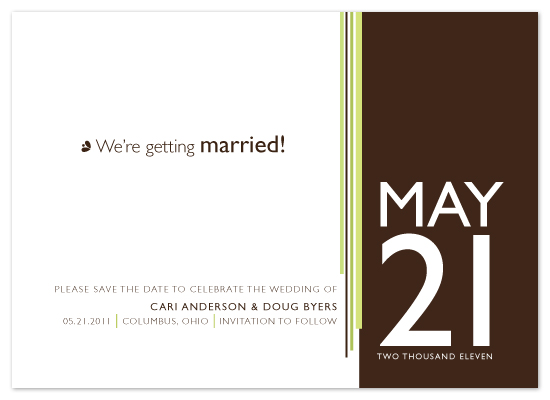 save the date cards - The Big Date by Print Julep