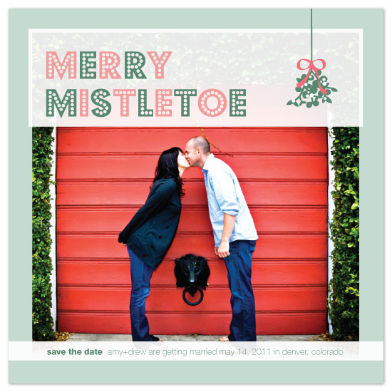 save the date cards - Merry Mistletoe by Print Julep