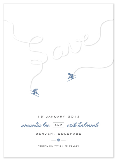 save the date cards - Ski Run by Lehan Veenker