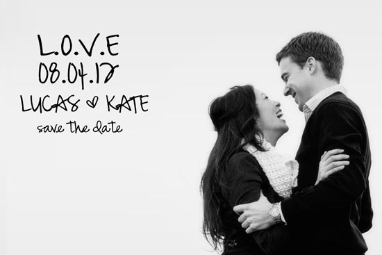 save the date cards - LOVE by Stacey Alexander