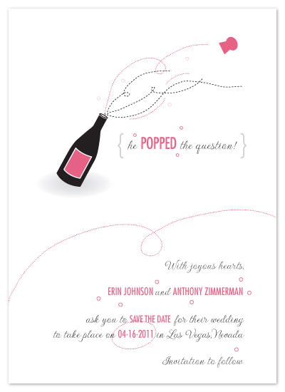 save the date cards - Popped! by Print Julep