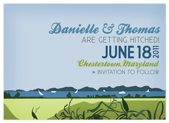 save the date cards - Breezy Waterfront Save the Date by Jessie May Perlin