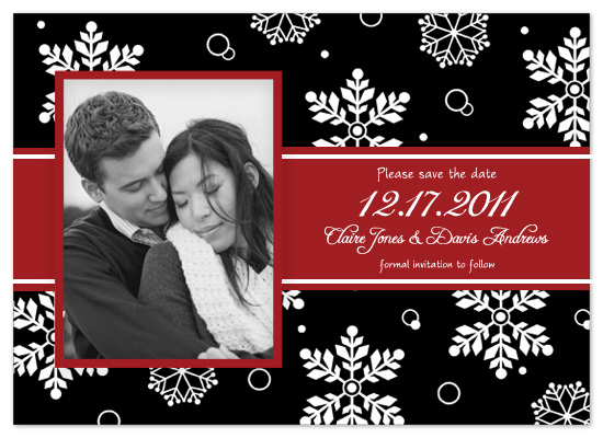 save the date cards - Winter Flurries by Scriptiva Paper