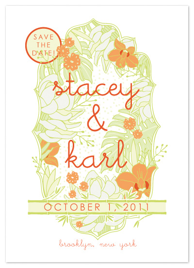 save the date cards - Tropicalia by bexcentric