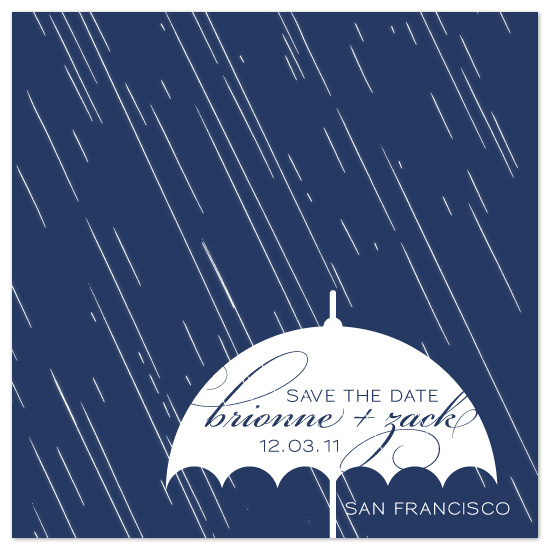 save the date cards - Rain Love by DELETEME