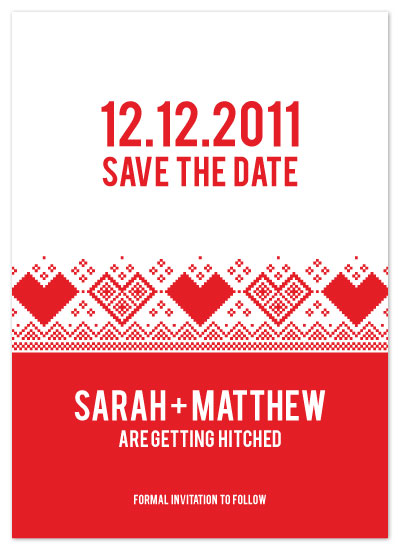 save the date cards - Winter Wonderland by Kerry Jones