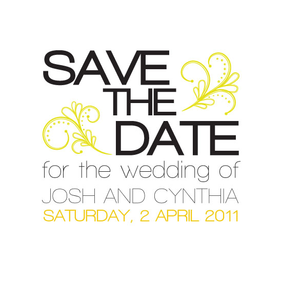 save the date cards - Modern Swirl by Edub Graphic Design