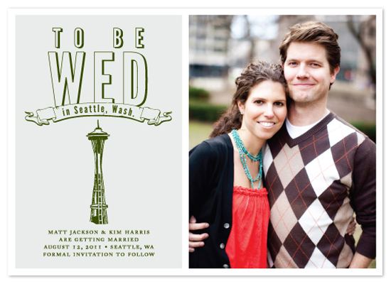 save the date cards - To be wed in Seattle, Wash. by i heart design studio