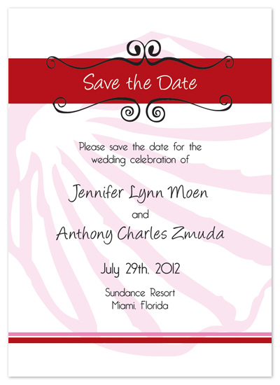 save the date cards - Pink Florida Beach by Perfect Day Wedding Invitations