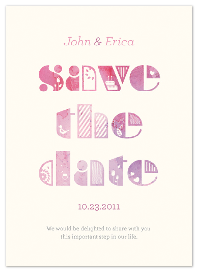 save the date cards - Full of Happiness and Love by Jenna