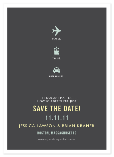 save the date cards - Plane Trains Automobiles by Fig and Cotton