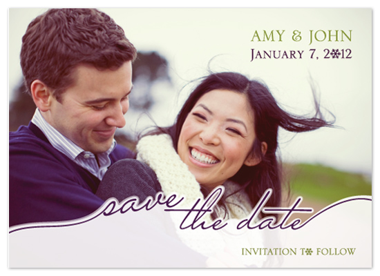 save the date cards - Let it Snow by Amanda Michaud