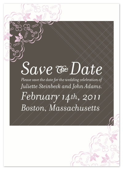 save the date cards - Pinstripes and Lace by andrea shorey