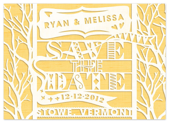 save the date cards - Paper Cut by Annemieke