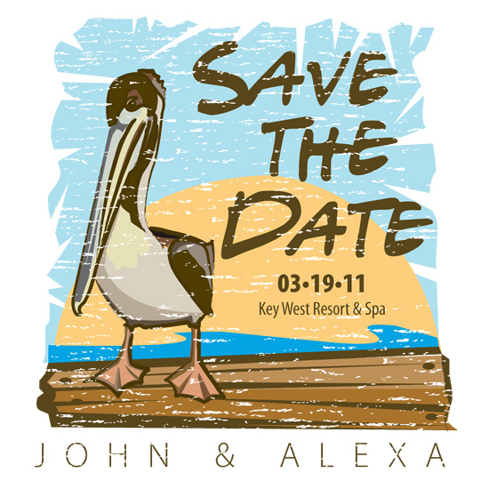 save the date cards - Key West Escape by Sage & Grace :: Design Studio