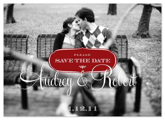 save the date cards - Letterstamp by David Sutoyo