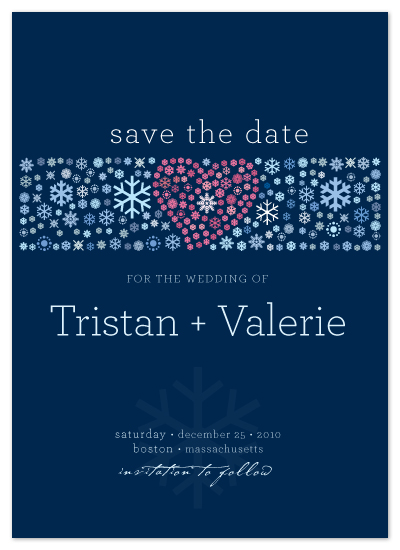 save the date cards - Blue Winter by LW