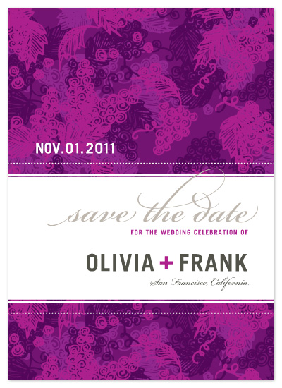 save the date cards - Grape Expectations  by J Sherman Studio