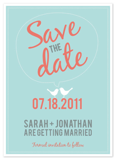 save the date cards - Amy by Kerry Jones
