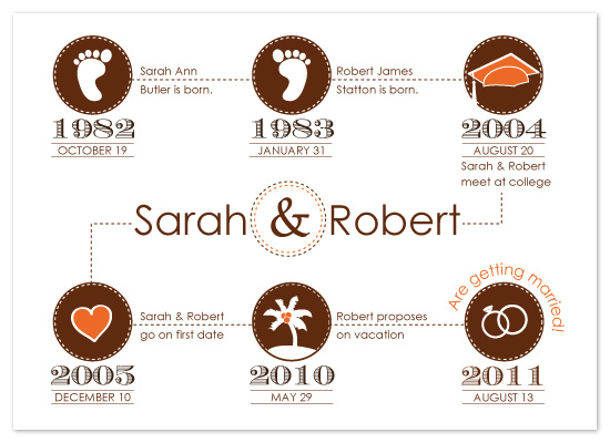 save the date cards - Life Line by melmade