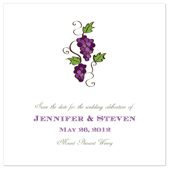 save the date cards - Pleasant Winery by melmade