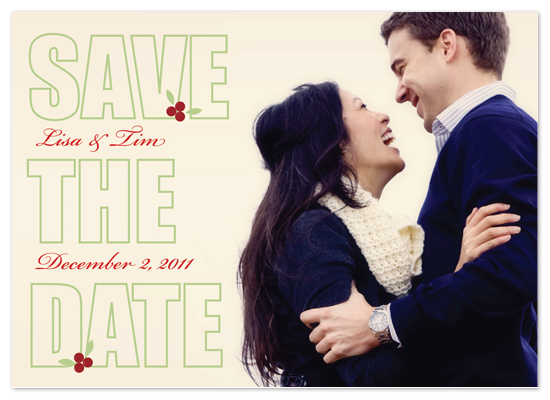 save the date cards - Wintery Love by MelStudio