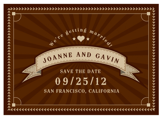 save the date cards - Field of Dreams by Gerard Palomo