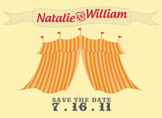 save the date cards - Circus Event by Mary Veterano