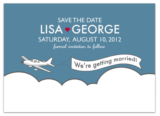 save the date cards - Love in the Air by Gerard Palomo