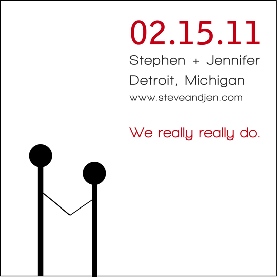 save the date cards - WE REALLY DO! by Jennifer Langan