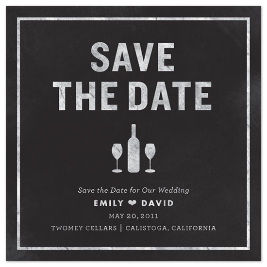 save the date cards - Chalkboard by Neatnick Design