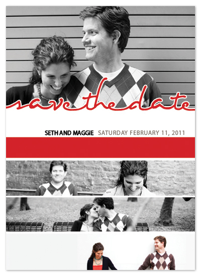 save the date cards - a slice of life by Stephanie Pearson