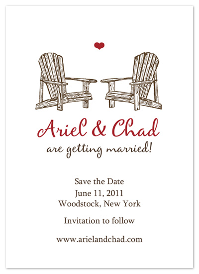 save the date cards - Rustic love by zori levine